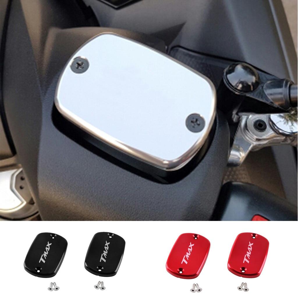 2PCS Motorcycle CNC Aluminum Alloy Liquid Tank Oil Cup Cover Cap For Yamaha Tmax 530 2012 2016 Titanium Gold Silver Red Black|Brake Booster Pump| |  - title=
