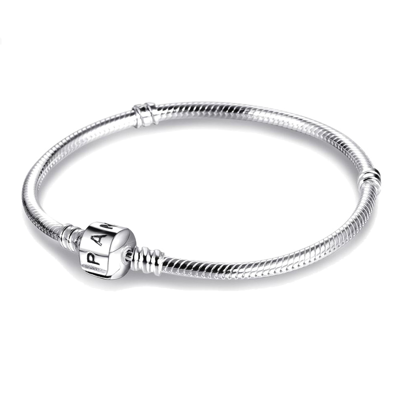With Certificate Real Pandora Chain Bracelet with Original LOGO 100% 925 Sterling Silver Charms Bracelet Fine Jewelry PB005