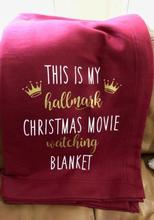This is My Christmas Movie Watching Blanket Sofa Blanket for Bed Christmas Gift Fleece Throw Funny Plush Bedspread Home Textiles