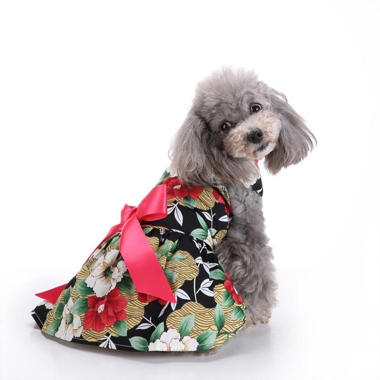 Pet Camouflage Clothing Summer Pet Beautiful Flower Skirt Dog Wedding Lace Dress G-02