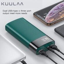 KUULAA Power Bank 20000mAh LED Display Portable Charging Pow