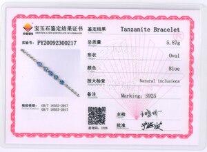 Image 5 - Женский браслет с голубым цирконием TBJ, браслет из серебра 925 пробы, 4 карат, ювелирное изделие в подарок