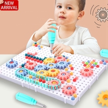 Screw-Toys Nut-Disassembly-Assembly-Tools-Sets Educational-Toys Electric-Drill Kids Children