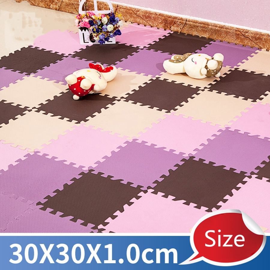 Top Sale  DIY 30*30*1cm Baby Foam Puzzle Play Mat  Kids Rugs Toys Carpet For Children Interlocking Exercise Floor Tiles