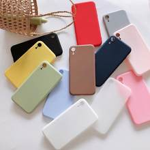 Para o iphone 5 5S caso bonito sólido macio tpu silicone caso para apple iphone 11 pro max 6 s 7 8 plus xs max xr x telefone capa fundas(China)