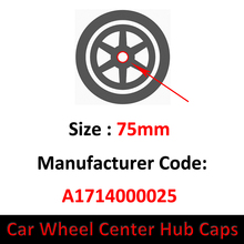 Center-Cap-Cover Mercedes-Benz Hub-Wheel Car-Emblem-Logo 75mm Rim for W176/W205/W212/..
