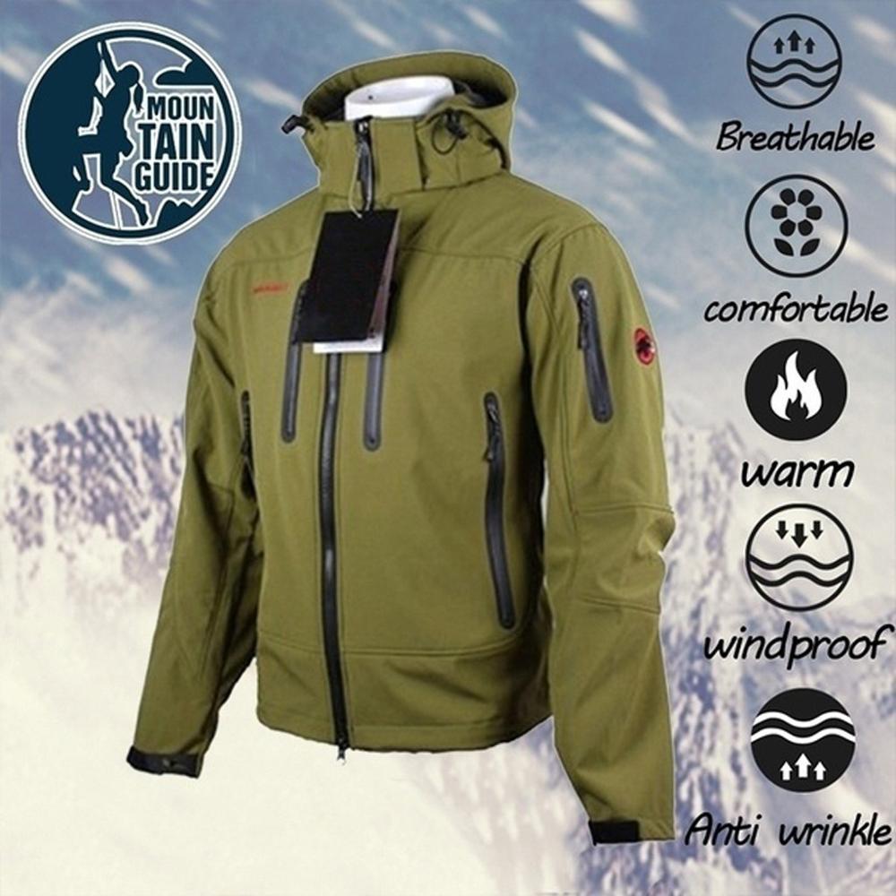 Hot Hunting Outdoor Sharkskin Tactical Military Training Soft Shell Jacket Suit Male Waterproof Combat Fleece Jacket