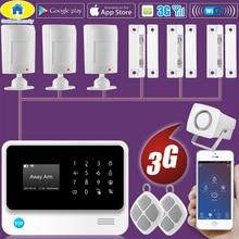 Золотой безопасности DIY G90B Plus+ 3g GSM WCDMA wifi IOS Android приложение управление домашней безопасности умный дом Проводная сигнализация