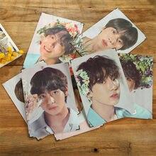1 pçs kpop bangtan meninos álbum amor a si mesmo falar jung kook jimin jin suga J-HOPE menino guirlanda foto quadro coleção