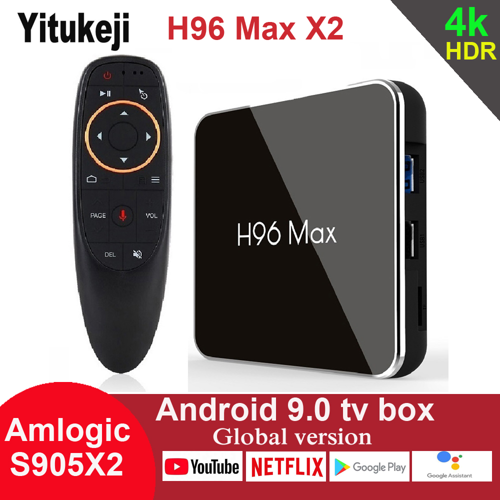 Android 9.0 TV Box H96 Max X2 Amlogic S905X2 4G 32GB 64GB Media Player 4K Google Voice Assistant Netflix Youtube H96MAX 2GB16GB