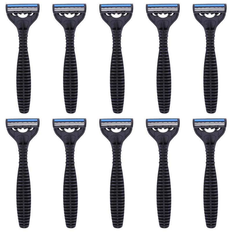 1/2/3 Layers Blades Manual Razor Steel Strip And Plastic Disposable Whiskers Beard Shaving Hotel Facial Body Axillary Supplies