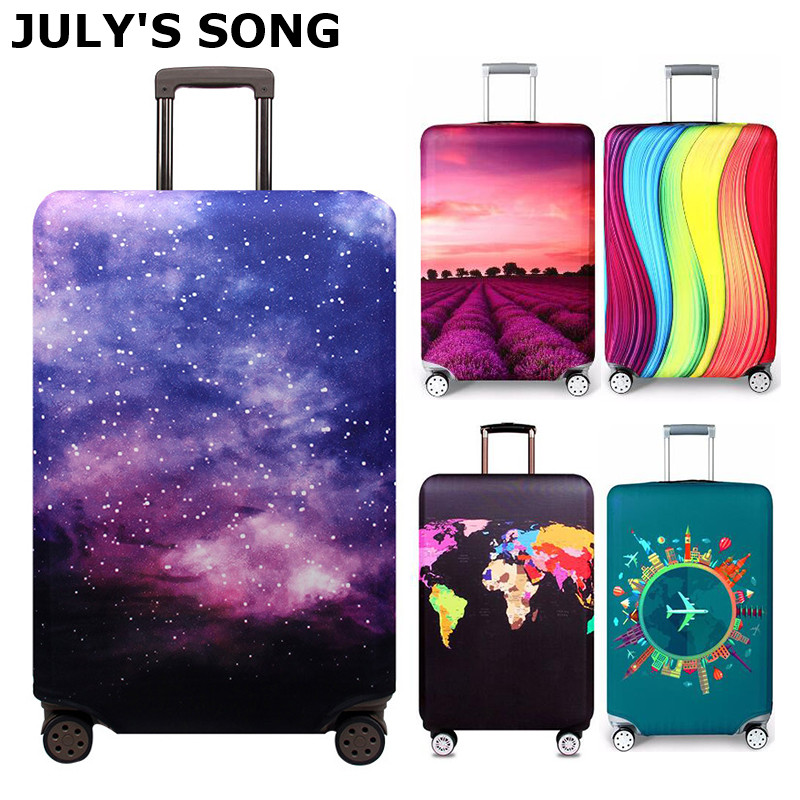 JULY'S SONG Elastic Fabric Luggage Protective Cover, Suitable 18-32 Inch , Trolley Suitcase Case Dust Cover Travel Accessories