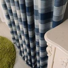 Скандинавские квадратные сетчатые хлопковые и конопляные шторы