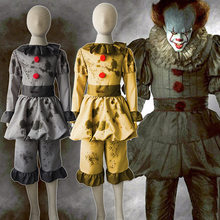 Movie Is: Chapter Two Cosplay Costume Horror Clown Pennywise Halloween party Costumes Mask Adult Kids(China)