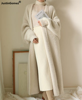New 2019 Soft Comfy Oversized Warm Faux Mink Fur Velvet Overcoats new trench style knitted Cardigan Sweater