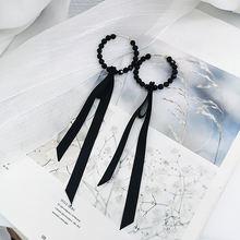Mwsonya 2020 модные корейские серьги с черной лентой для женщин
