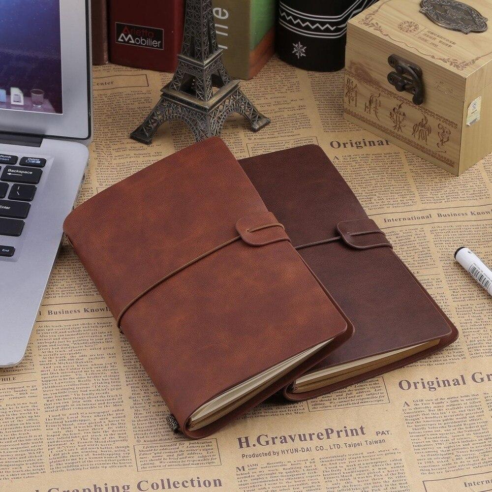 Caderno de capa dura do vintage espiral falso couro dairy note book escola material de escritório para estudantes de negócios notebooks fazendo notas