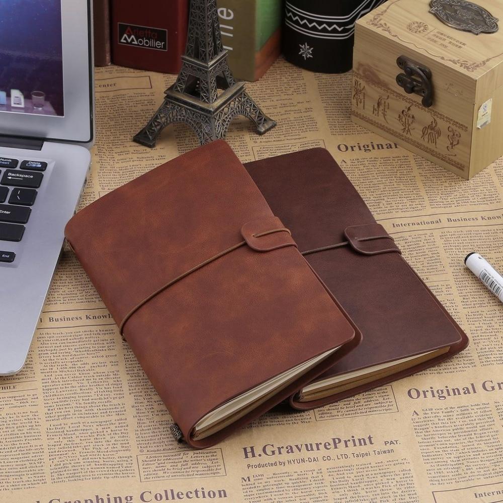 Vintage ciltli defter Spiral suni deri günlüğü not defteri okul ofis kaynağı öğrenciler için iş notebook yapma notlar