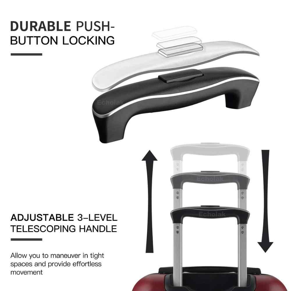 """Stilvolle rotator 20 """"24"""" 28 """"erweiterbar koffer kombination gepäck PC + ABS koffer mit rädern trolley"""