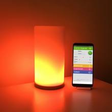 Matrix luminária led 16x16, diy, lâmpada touch, dobrável, digital, endereçável, ws2812b, rgb, dc5v