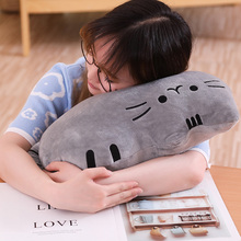 Hot 1PC 25cm Cute Biscuits Cats Cartoon Cat Sofa Sleeping Kawaii Stuffed Animal Plush Toys Birthday Girls Gift Baby Pillows