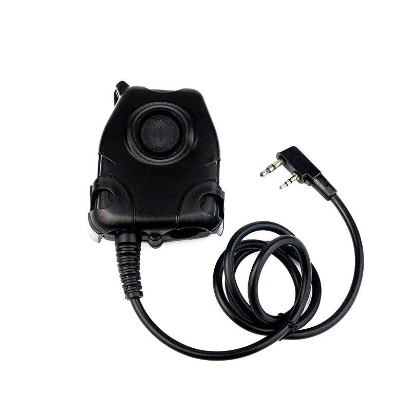 Ptt Headset Adaptor For Z Bowman Elite II HD01 HD02 HD03 H50 H60 For Kenwood Baofeng UV-5R Walkie Talkie