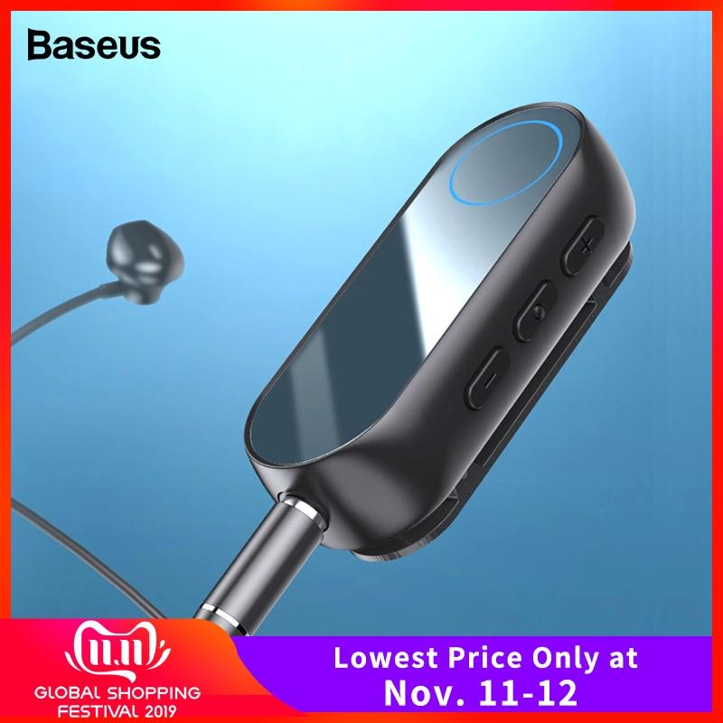 Baseus Bluetooth 5.0 récepteur pour 3.5mm Jack écouteur casque AUX sans fil adaptateur Bluetooth Audio musique récepteur émetteur