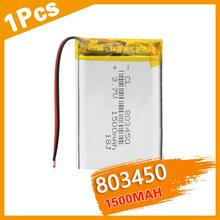 3.7V 1500mAh 803450 Lithium Polymer LiPo Rechargeable Battery li ion cells With PCB For Mini Fan MP4 MP5 GPS Toy PDA Headset