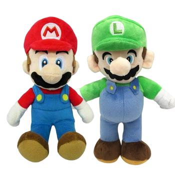 2PCS Super Mario Bros Plush Doll Mario Luigi Toy Soft Stuffed Animal Dolls Toys Kids Children Christmas Gift 25CM недорого
