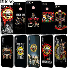 IYICAO guns n roses Guns N' Roses Soft Silicone Phone Case for Xiaomi Redmi 8A 7A 6A 5A K20 S2 4A 4X Note 8 7 6 Pro 5 Plus Cover(China)
