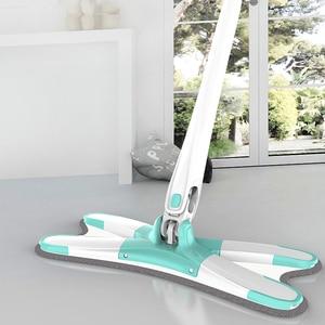 Image 5 - X tipo di Pavimento Mop Piano di Lavapavimenti 360 Gradi Per Ceramica Legno Piastrelle di Casa Strumento di Pulizia Per la Casa con la In Microfibra Riutilizzabile pastiglie Pigro Mop