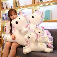 Efsanevi Unicorn peluş oyuncaklar yumuşak dolması karikatür hayvan at bebek yastıklar Pegasus bebek yeni yıl hediyeleri çocuklar çocuklar için
