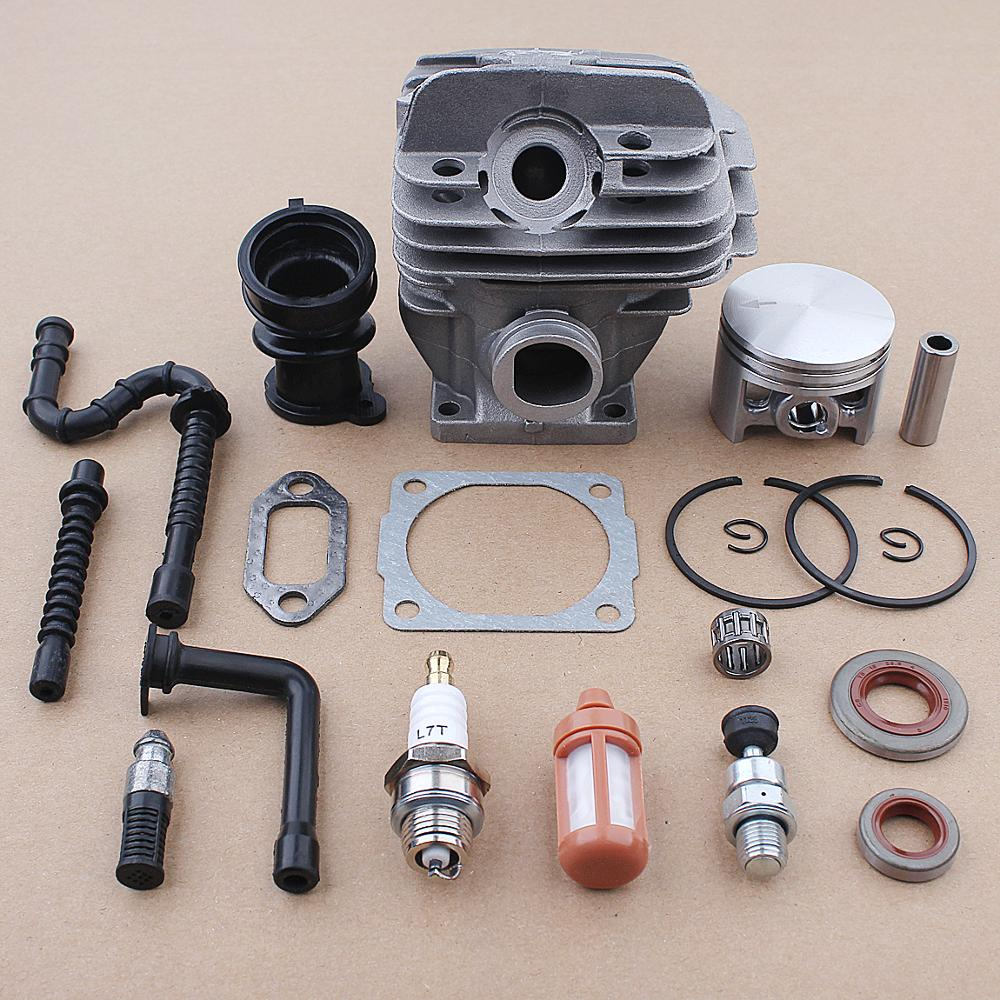 44mm Cylinder Piston Fuel Oil Filter Line Seal Kit For Stihl MS260 026 Chainsaw 1121 020 1203 1121 358 7700 w Intake Manifold