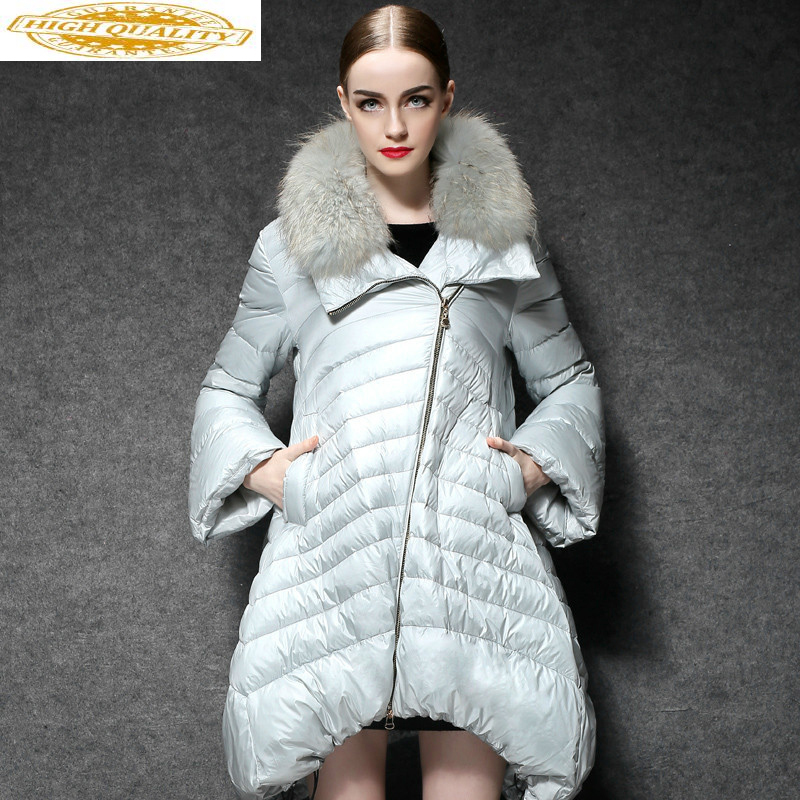 White Duck Down Jacket Wome Long Coats Female Fashion Puffer Coat Light Womens Down Jackets 2020 YL169111 KJ3739
