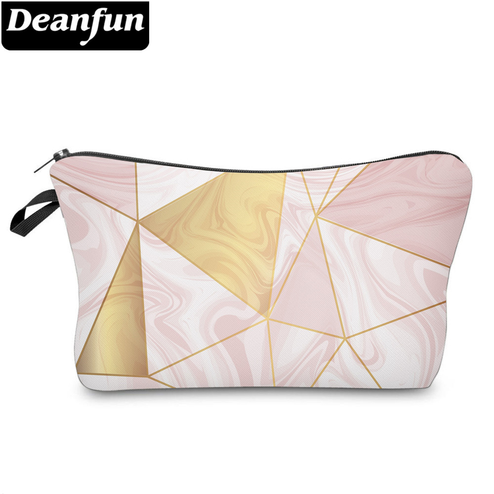 Deanfun Marble Makeup Bags 3D Printed Adorable Roomy Makeup Bag Funny Designed Cosmetic Bag For Women 51964