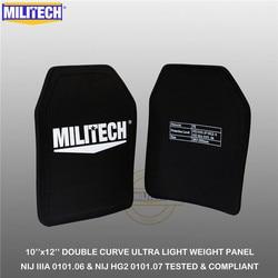 MILITECH Ballistische Platte 10 x 12 Paar NIJ IIIA 3A 0101.06 & NIJ 0101,07 HG2 Ultra Licht Gewicht UHMWPE Kugelsichere Rucksack Panel