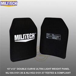 MILITECH-plaque balistique 10 x 12 paire   Panneau Ultra léger, NIJ IIIA 3A 0101.06 & NIJ 0101.07 HG2, panneau de sac à dos anti-balle UHMWPE