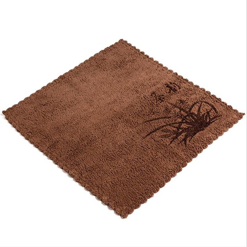 Домашнее горячее из микрофибры, с принтом Впитывающее чайное полотенце на заказ утолщенное Впитывающее чайное полотенце кунг-фу аксессуары для чая - Цвет: brown