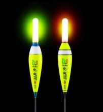 1Pcs LED Fishing Float Balsa Wood Electronic Saltwater Luminous Buoy pesca With CR425 Carp J255