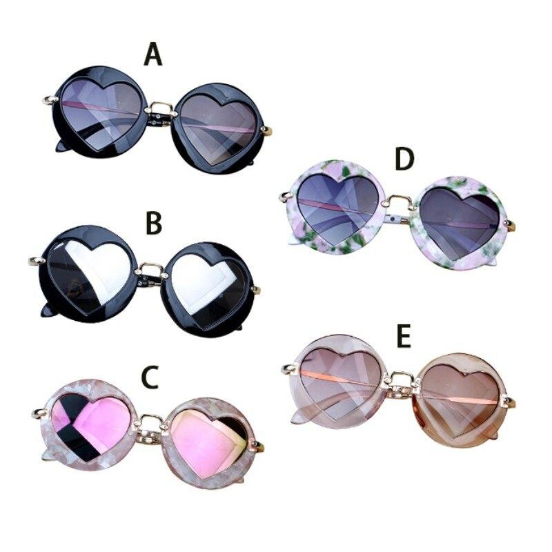 Kids Toys Baby Girl Sunglasses For Children Heart Black Pink Heart Sun Glasses For Kids