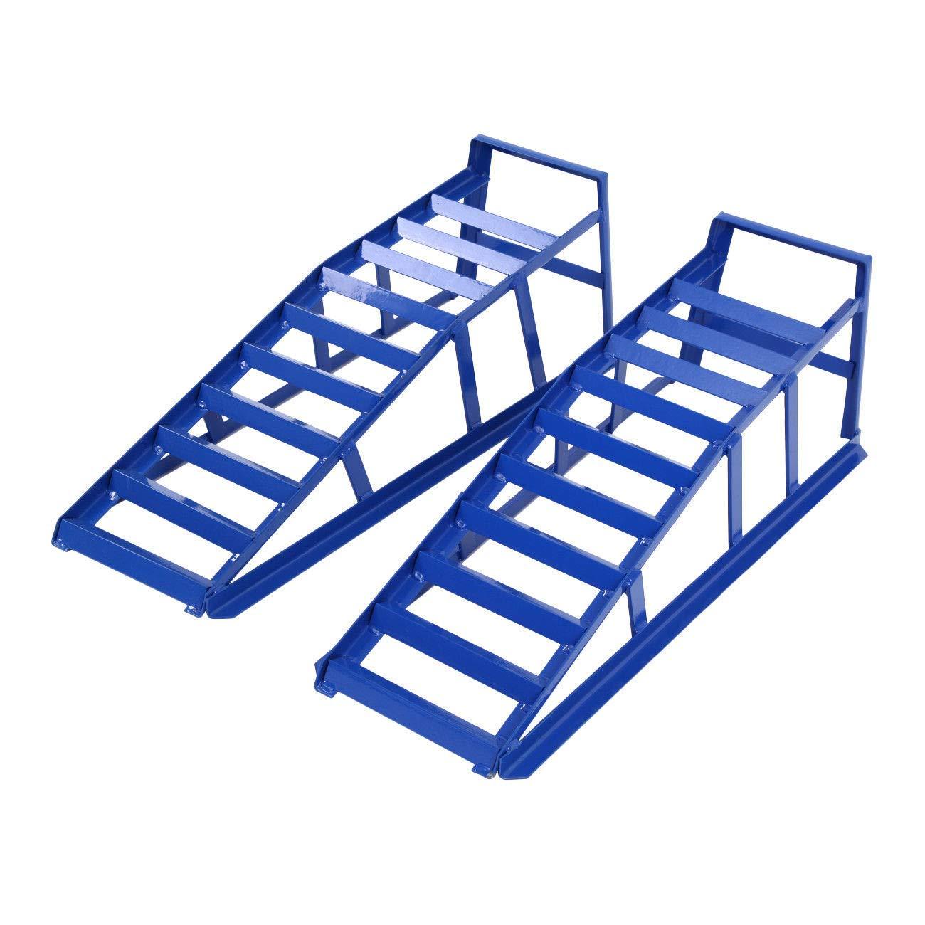 Samger 2Ton Steel Car Access Ramps Loading Ramp Heavy Duty Maintenance Lifting Equipment Blue