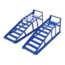 Samger – rampes d'accès de voiture en acier, rampe de chargement, robuste, équipement de levage et d'entretien, bleu, 2 tonnes