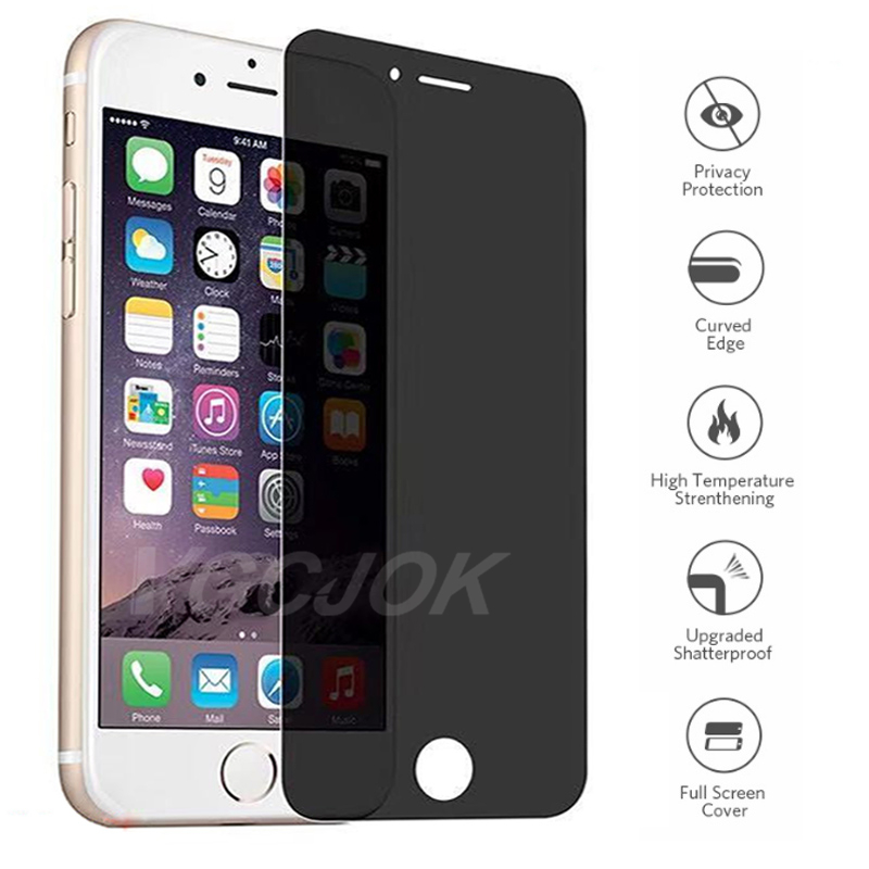 Защитная пленка для iPhone 6 7 8 Plus SE 2020, закаленное антишпионское стекло для iPhone 11 X XS MAX XR