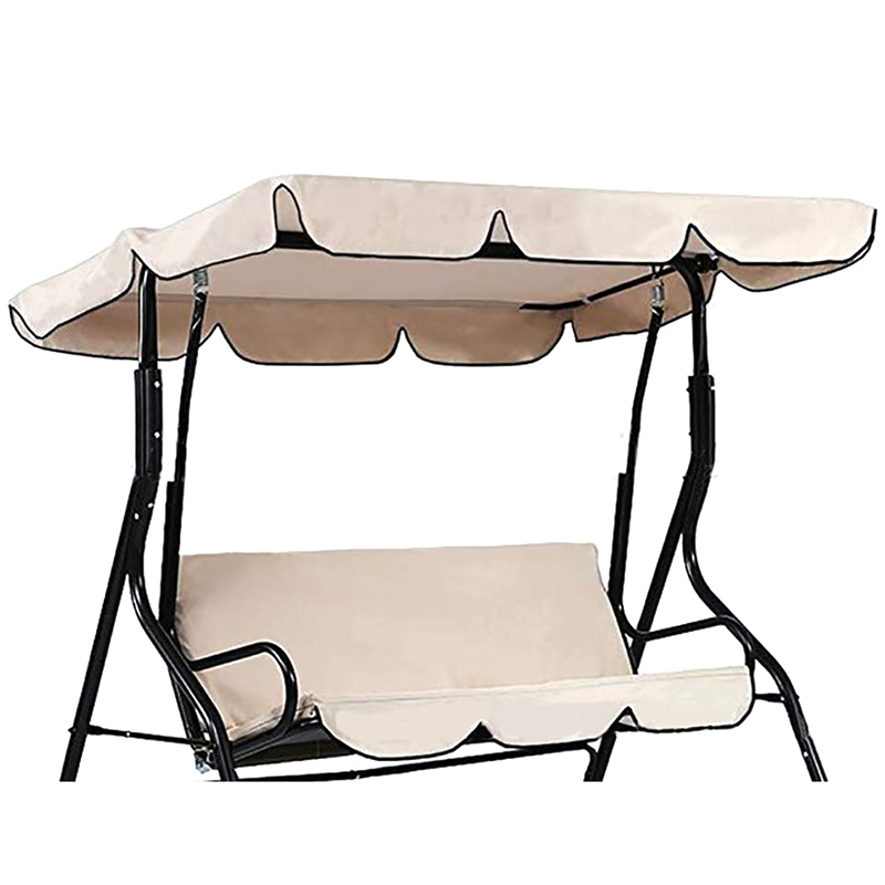 Outdoor Anti Dust Protector, Waterproof Swing Seat Top Cover Outdoor Rainproof Durable Anti Dust Protector(Beige)