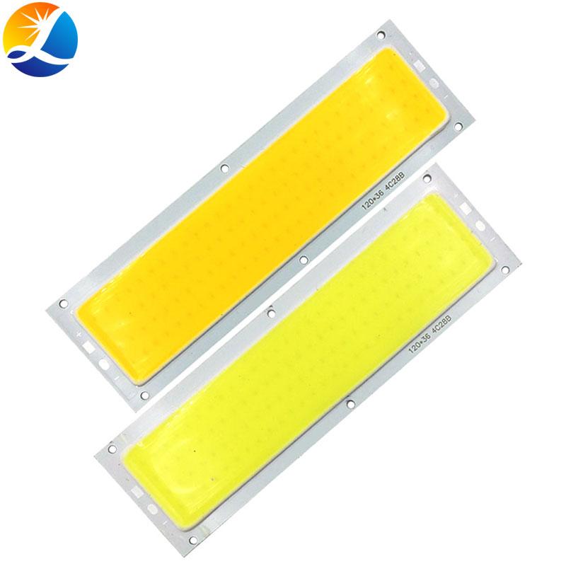 12V 24 V LED Light Chip COB Panel LED Lamp For DIY Car Lighting House Lights 120mm Emitting Board Blue Red Warm Cool White Color