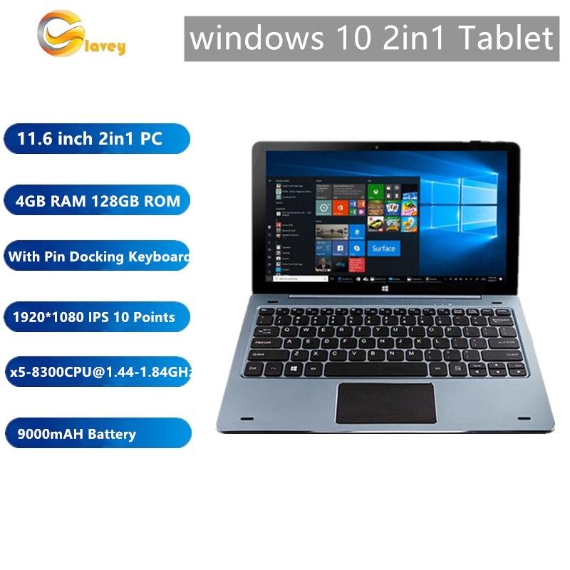 11,6 дюймов NC01 Windows 10 планшетный ПК с клавиатура стыковки пин 4 ядра, 4 Гб Оперативная память 128 Гб Встроенная память 1920*1080 IPS, совместимому с HDMI
