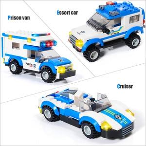 Image 4 - 818Pcs Stad Politie Station Swat Auto Bouwstenen Compatibel Stad Politie Bricks Jongens Vrienden Speelgoed Voor Kinderen Geschenken