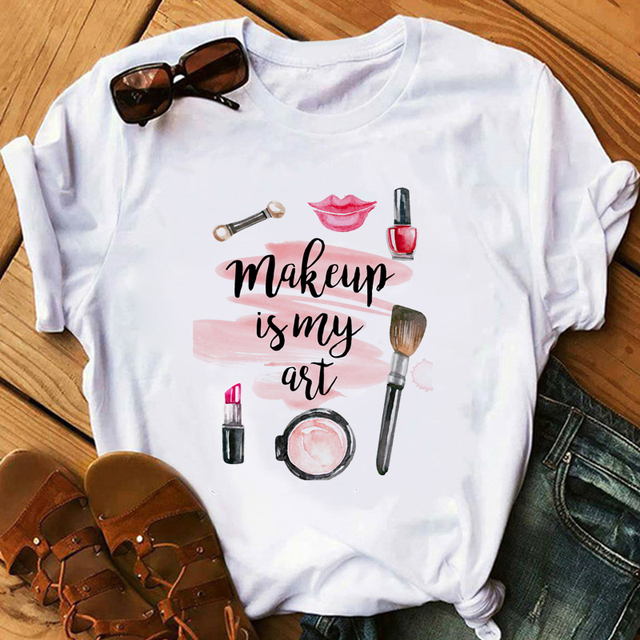 Red Lipstick T Shirt Women Perfumer Floral T-Shirts Girl Summer Shirt Lady Casual Sexy Lip T-shirt Gift for Girlfriend 3