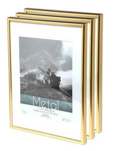 Picture Frame Metal Golden Photo Frame Classic Minimalist Desktop Decor 9x13 13x18 21x30cm Pleixglass Inside Certificate Frame