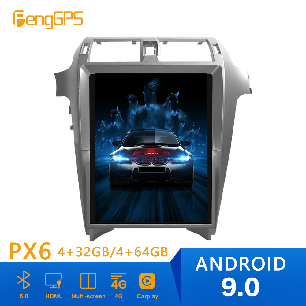 Android 9. Tesla Style Car CD Radio Vertical Screen for Lexus GX460 Lexus <font><b>GX400</b></font> 2009+ GPS Navigation Multimedia Player Head unit image